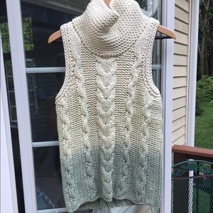 Free People Sweaters - Cream and light green Free people ombré knit